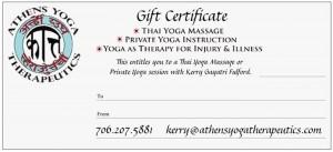 ayt gift certificate